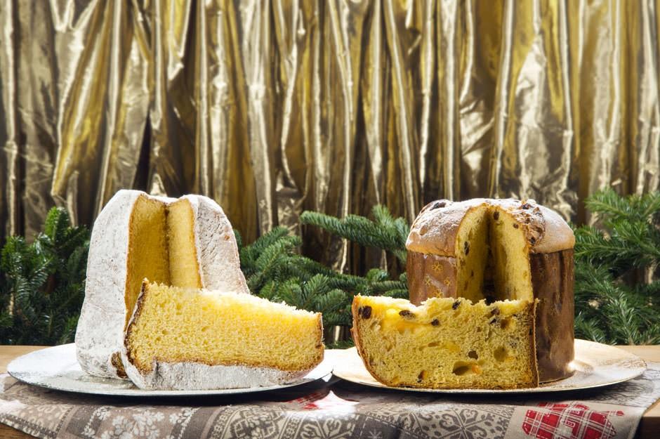 Christmas food: panettone or pandoro