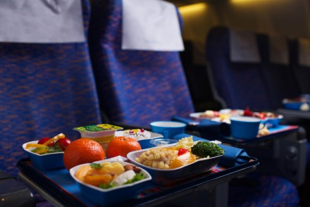fod gourmet on airplan